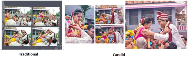 traditional photography vs candid photography