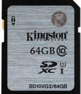 Kingston 64 GB SDXC Class 10 80 MB/s Memory Card