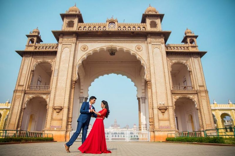 prewedding shoot at mysore palace