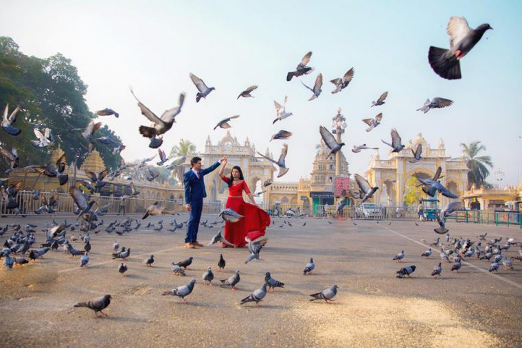 photoshoot locations near mysore palace