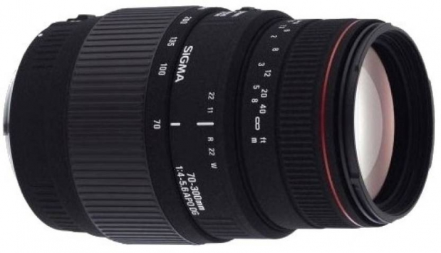 Sigma 70 - 300 mm F4-5.6 APO DG Macro Motorized for Canon Digtital SLR Lens